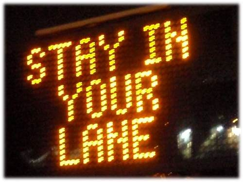 Image result for Stay in your lane